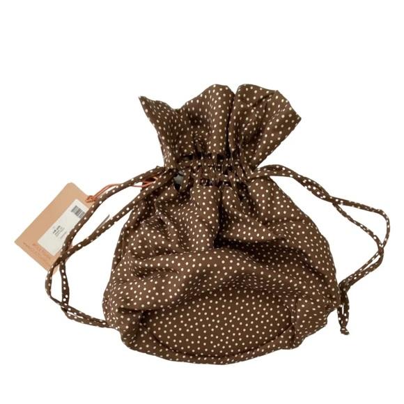 Cult Gaia Silk Polka Dot Poppy Pouch Bag